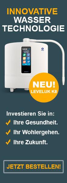 Bestellen Sie hier das Leveluk K8 der Firma Enagic bei Ihrem Kangen-Wasserexperten